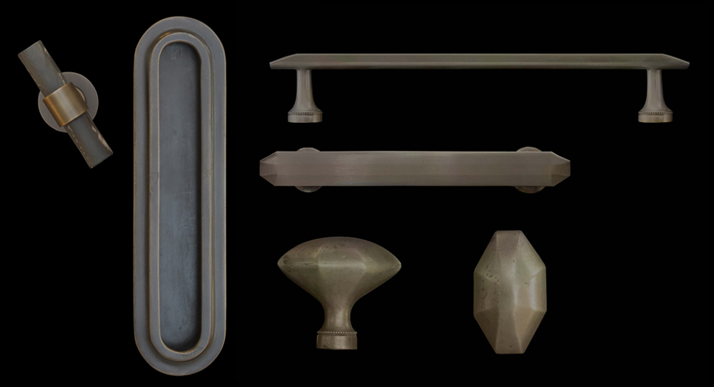 H Theophile Historical and eclectic cabinet pulls